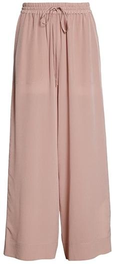 Club Monaco silk culottes | 40plusstyle.com