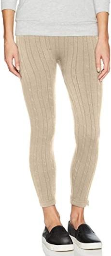 MUK LUKS cable knit leggings | 40plusstyle.com