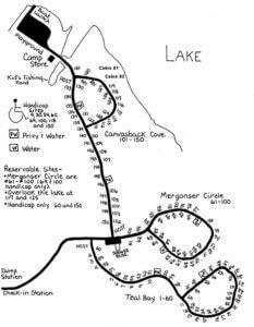 shabbona lake camping map