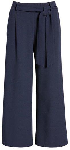 Loveappella wide leg crop pants | 40plusstyle.com
