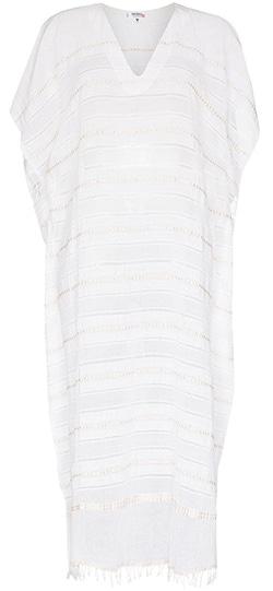 lemlem Kelali Stripe Pattern Kaftan Dress | 40plusstyle.com
