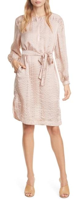 Silk midi dress with sleeves   40plusstyle.com