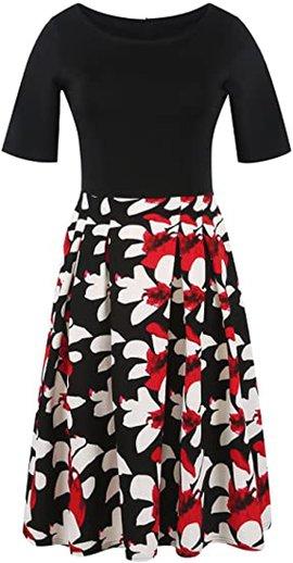 oxiuly swing dress   40plusstyle.com
