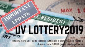 DV lottery 2019 aggiornamento parole sparse