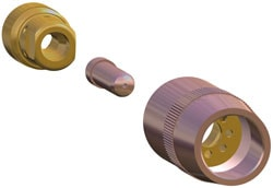 Image of the Centerfire Consumables nozzle, contact and diffuser