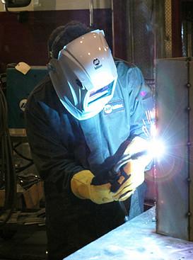 Image of welder with Bernard MIG gun