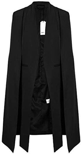 ASMAX longline blazer cape | 40plusstyle.com