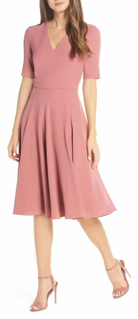 fit and flare dress with sleeves   40plusstyle.com