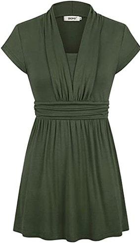 BEPEI empire waist tunic top   40plusstyle.com