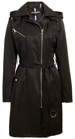 Karl Lagerfeld Paris trench coat | 40plusstyle.com