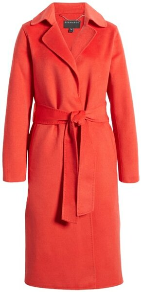 Bernardo belted long coat | 40plusstyle.com