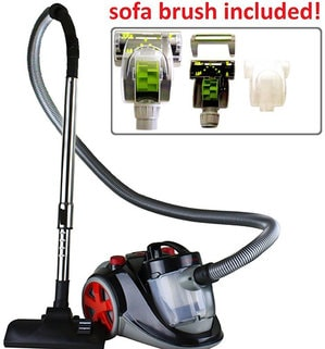 1. Featherlite Bagless Canister Vacuum