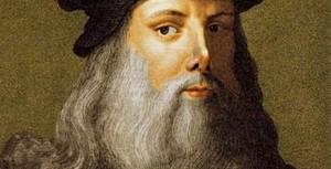 Imagen del rostro de Leonardo da Vinci
