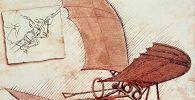 imagen de uno de los inventos de Leonardo el ornitóptero
