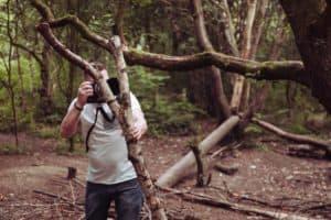 jon at er photography taking photos from a bush