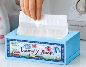 using dryer sheets to soften fabrics in the drying machine