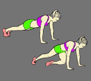 mountain climbler for abs workout