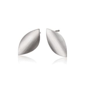 Mini Blad matt sølv