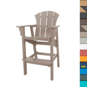 Sunrise High Dining Chair with Navy