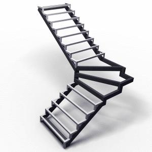 Г-образный с забежными ступенями