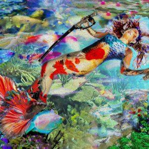 Tela: Mermaid Ningyo Artista: Henrique Vieira Filho