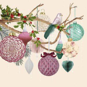 Ambiente servetten Christmas Spirit Cream