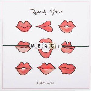 Nova Dali giveaway bracelet Thank You