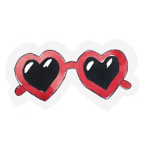 The Gift Label Cut Out Cards Heart Glasses