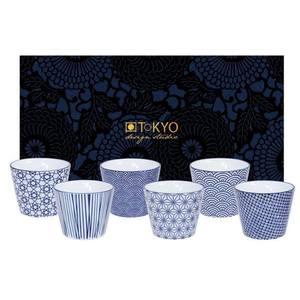 Tokyo Design Studio Nippon Blue Koffiekopjes 6 stuks
