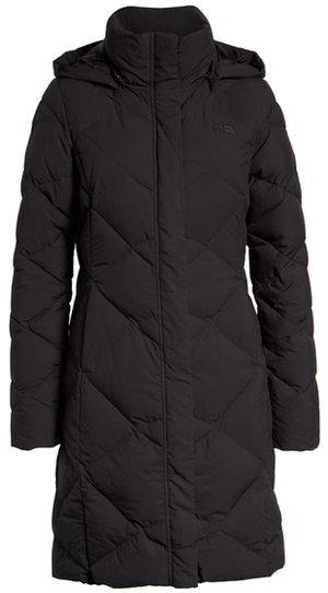 The North Face water repellent hooded parka | 40plusstyle.com
