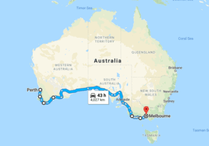 Perth On Australia Map.Perth To Melbourne Road Trip Your Ultimate Guide And Itinerary 2018