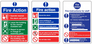 examples of fire action notices