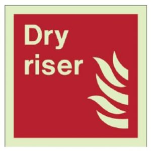example of dry riser location sign