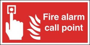example of fire alarm call point sign