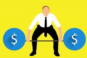 trader and money cartoon