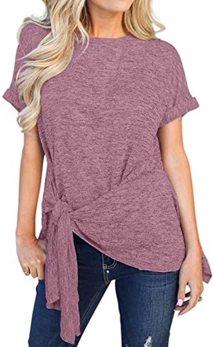 best t shirts for women - Chase Secret front tie top | 40plusstyle.com