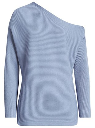 Treasure & Bond one-shoulder pullover | 40plusstyle.com