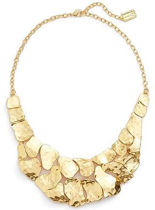 Karine Sultan statement necklace   40plusstyle.com