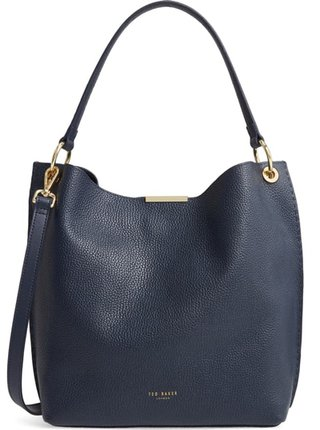 Ted Baker London leather hobo bag | 40plusstyle.com