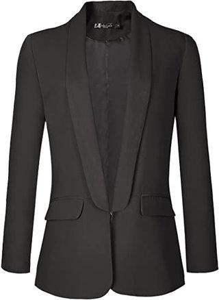 Urban CoCo open front blazer   40plusstyle.com