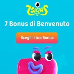 Bonus di benvenuto 7Signs
