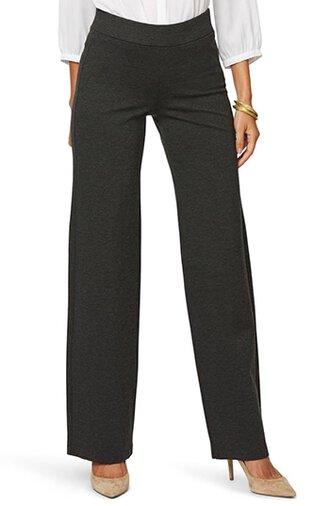 NYDJ straight leg pull-on pants | 40plusstyle.com