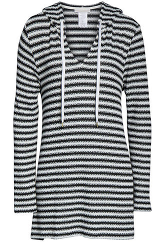 Bathing suit cover ups - La Blanca slouchy hooded sweater cover-up | 40plusstyle.com