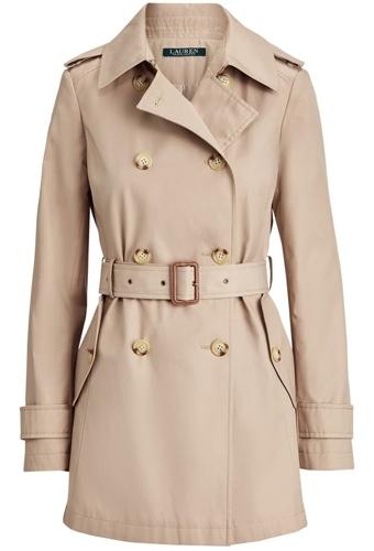 Lauren Ralph Lauren trench coat | 40plusstyle.com