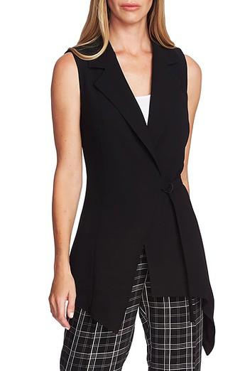 Black sleeveless vests for women over 40   40plusstyle.com