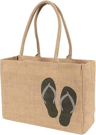 Best beach bags - KAF Jute Tote Bag | 40plusstyle.com