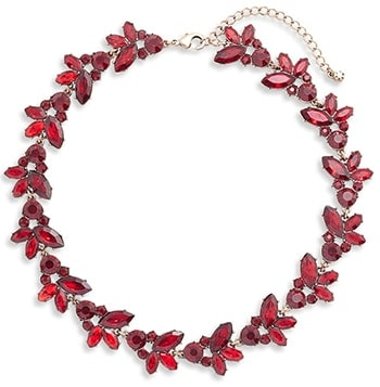 Knotty crystal statement collar necklace | 40plusstyle.com