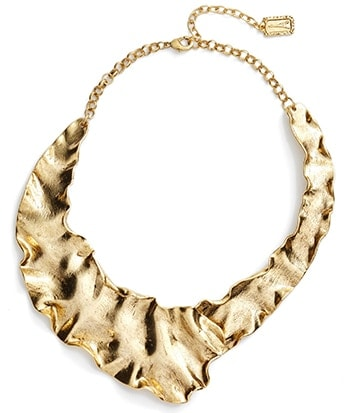 Karine Sultan gold plate collar necklace | 40plusstyle.com