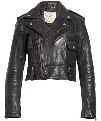 best leather jackets for women: Polo Ralph Lauren leather moto jacket | 40plusstyle.com