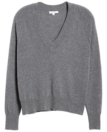stylish v-neck sweaters | 40plusstyle.com